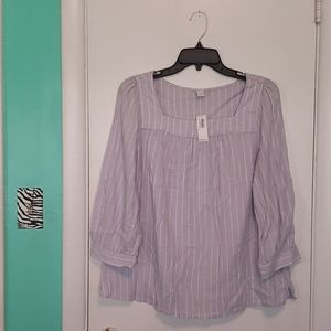 Women's Old Navy Striped Peasant-Style Blouse